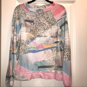 Wildfox retro print Kim's sweater